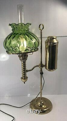 1870s Manhattan Student Oil Lamp electrified brass Exc Condition Choice Of Shade