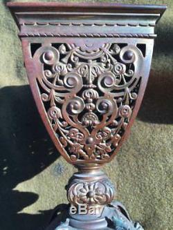 1880s bronze oil lamp Thos. Messenger Birmingham England Victorian Duplex fitter