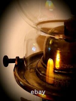 19th C. Conta Boehme Possneck Figural Owl Oil Lamp c. 1875