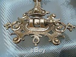 A Fine Quality Pair Of Blue Victorian Art Nouveau Sconce Oil Lamps