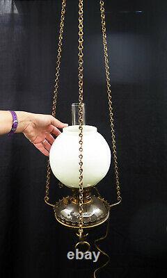 A Period Hinks Hanging Sanctuary Oil Lamp, Circa 1890