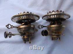 A pair of Victorian Messenger's No. 2, Duplex, OIL LAMP BURNERS