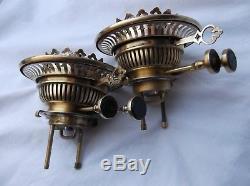 A pair of Victorian Messenger's No. 2, Duplex, OIL LAMP BURNERS