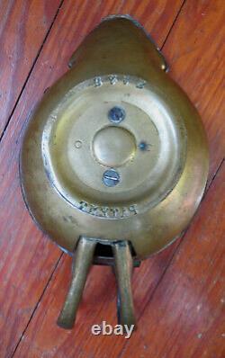 ANTIQUE B & AB PATENT SNAKE HANDLE OIL LAMP Rare Unique