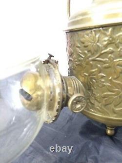 Angle Lamp Company Triple Burner Oil Lamp
