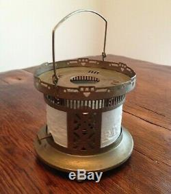 Antique Bisque Tile Lithophane Oil Lamp Tea/Coffee Warmer