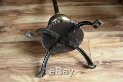 Antique Brass Telescopic Standard Oil Lamp