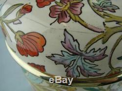 Antique Doulton's Ceramic Oil Lamp Base & Font Hinks Bayonet Fit Collar