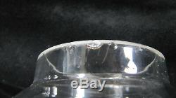 Antique French Oil Lamp Crystal Baccarat Table Parlor GWTW Kerosene Victorian