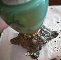Antique GWTW 1800s Original Oil Parlor Lamp signed P. G. Co 202A Electrified