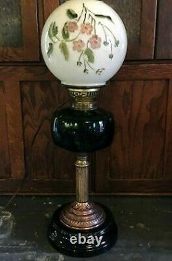 Antique Gone With The Wind Banquet Oil Lamp GWTW Electric 1800's Victorian Era
