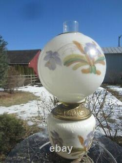 Antique Gone with the Wind Hurricane Oil Lamp Victorian Beautiful