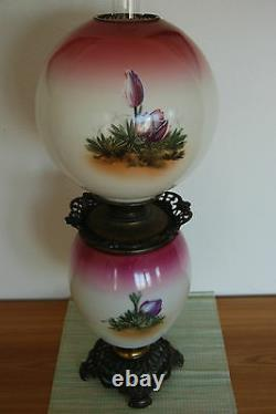 Antique Gwtw Gone With The Wind Oil Kerosene Old Banquet Parlor Victorian Lamp