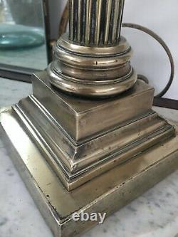 Antique Large Brass Corinthian Brass Oil Lamp
