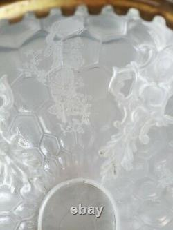 Antique Oil Parlor Banquet Floor Lamp Shade Ball Globe B + H Bradley Hubbard
