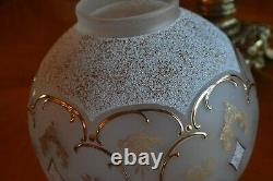 Antique Original Gwtw Victorian Banquet Parlor Kerosene Oil Converted Lamp
