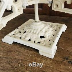 Antique Ornate Cast Wrought Iron Plant Stand Swing Arms Victorian Oil Lamp Japan
