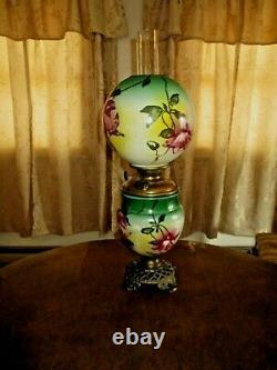 Antique Pittsburgh Gone With The Wind Oil Lamp signed Original