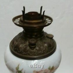 Antique Plume & Atwood 3 Tier Banquet Parlor Hurricane Oil Lamp Electrified