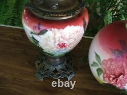 Antique VICTORIAN GONE WITH THE WIND PARLOUR LAMP GWTW Oil Lamp, Made in USA