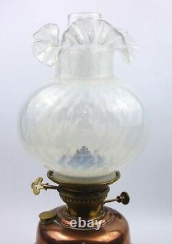 Antique Veritas Copper & Brass Oil Lamp