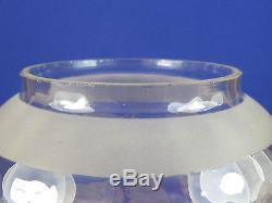 Antique Victorian Art Nouveau Cranberry Glass Oil Lamp Shade Calla Lily Design