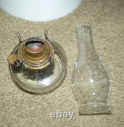 Antique Victorian Bradley & Hubbard B&H Cast Iron Horse Hanging Oil Ceiling Lamp