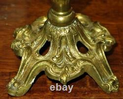 Antique Victorian Cranberry Extra FINE Superior Overshot Miniature Oil Lamp MINT