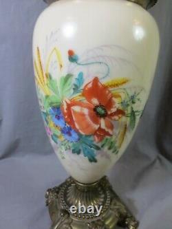 Antique Victorian Duplex Hinks Oil Lamp