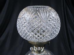 Antique Victorian EAPG PINEAPPLE & FAN OIL LAMP SMALL BANQUET LAMP