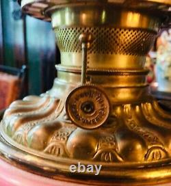 Antique Victorian Gone With The Wind Oil Lamp (gwtw Parlor Lamp)