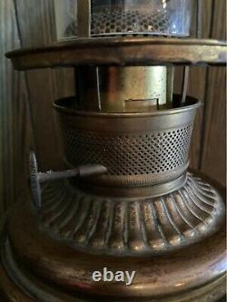 Antique Victorian Gone With The Wind Oil Lamp (gwtw Parlor Lamp) All Original