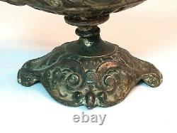 Antique Victorian, Gothic Oil Lamp With Face Cigar Lighter Possibly French