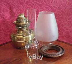 Antique Victorian'J. Wippell & Co' Exeter & London Brass Oil Lamp