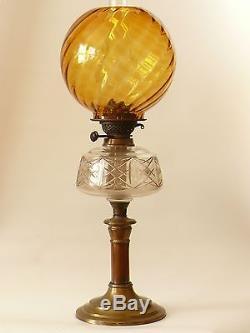 Antique Victorian Oil Lamp Duplex Best