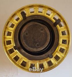 Antique Victorian Parlour Banquet Oil Lamp 1898 Trophy Base Hand Painted Globe