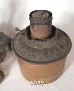 Antique Victorian Tall Banquet Oil Kerosene Lamp-cherubs-corinthian Column