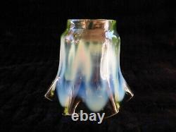 Antique Victorian Vaseline Uranium Glass Lamp Shade Walsh Powell