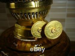 Beautiful Amber Victorian Oil Lamp