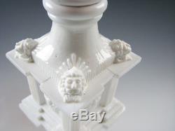 Boston & Sandwich Glass Co Free Blown & Pressed Antique Whale Oil Lamp American