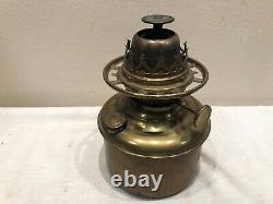 CONSOLIDATED Ruby Satin Glass GWTW Victorian Parlor Oil Lamp Success (BASE ONLY)