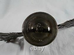 Cast Iron Victorian Iron Horse Hanging Kerosene Oil Lamp Frame Cleaned & Laquerd