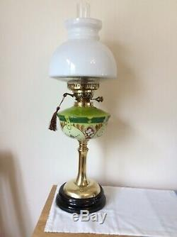 Duplex Oil Lamp and Paris Shade