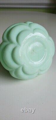 EAPG Victorian Miniature Acme Jadeite Green Opaque Oil Lamp