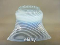 Excellent Original Antique Opalescent Oil Lamp Shade