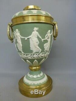 Fabulous Antique Wegwood Jasper Oil Lamp