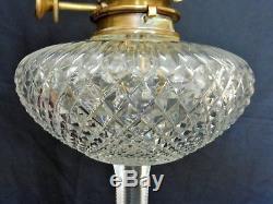 Fabulous English Cut Glass Oil Lamp By F. C. Osler 1880