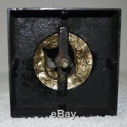 Figural Spelter & Glass Kerosene Oil Lamp