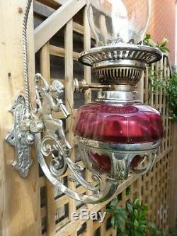 Genuine Antique Angel Oil Lamp Gypsy Vardo Travellers Showmans Van