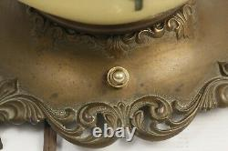 Gone With The Wind Converted Oil Lamp Hand Painted Signed Rewired Huge